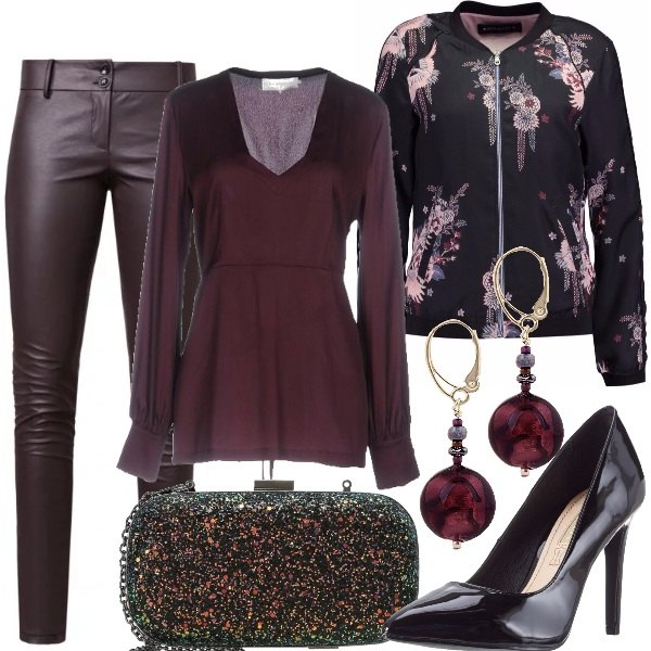 Outfit Bomber ed ecopelle