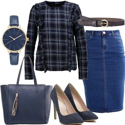 La gonna jeans outfit donna Trendy per tutti i giorni ...