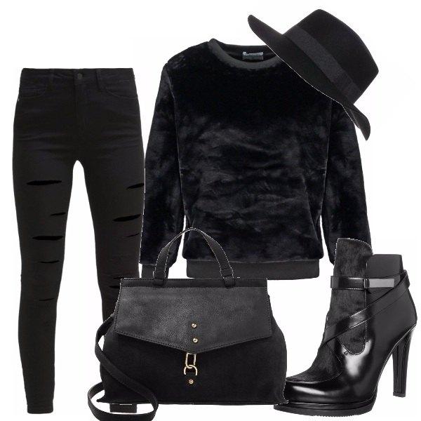 Outfit Black fur