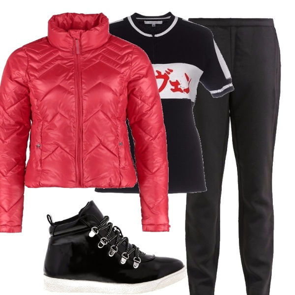 Outfit Red&black_saldi