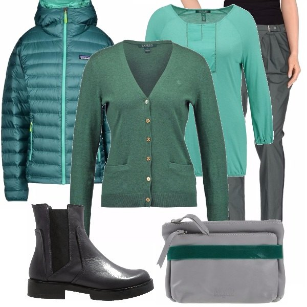 Outfit Grey and green