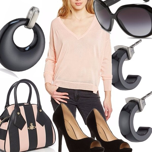 Outfit Rosa Minimalista