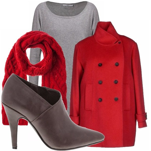 Outfit Red&grey_saldi
