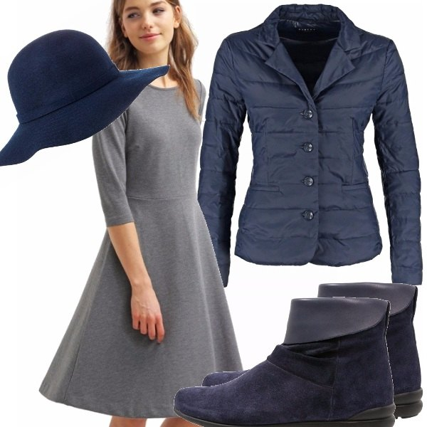 Outfit Blu & grigio girl