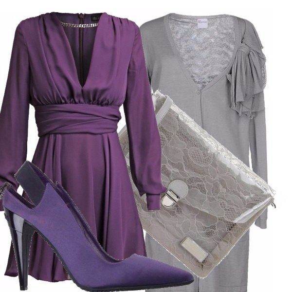 Outfit Cerimonia in viola!