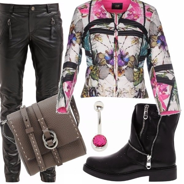Outfit Romanticamente grintosa
