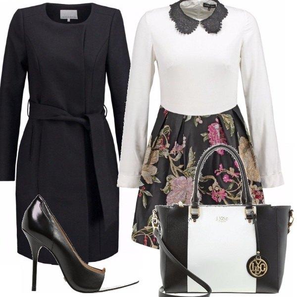 Outfit Bon ton floral e b/w !