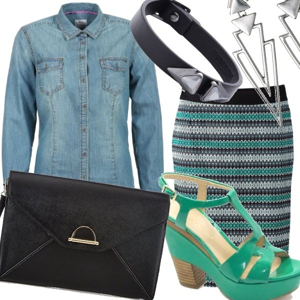 Outfit Emerald green