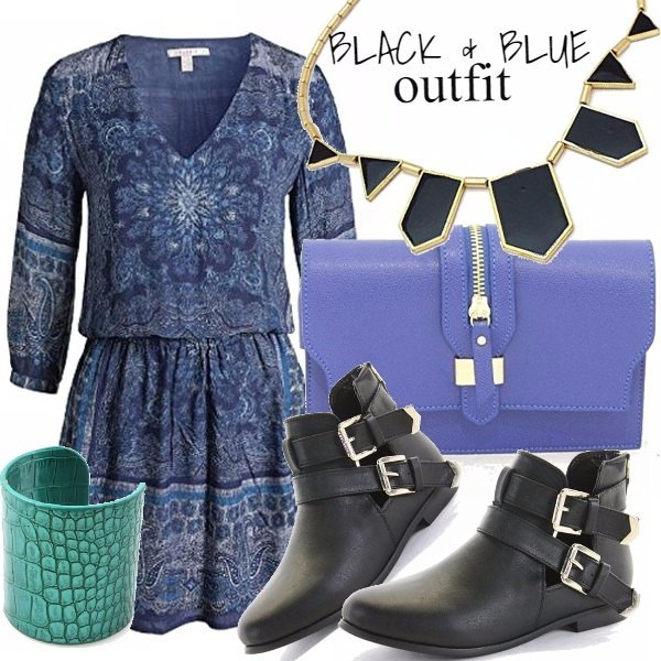 Outfit BLACK & BLUE OUTFIT