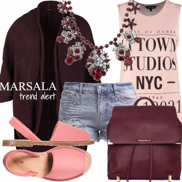 Outfit MARSALA - Trend alert