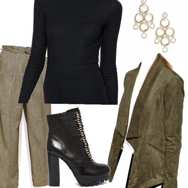 Outfit Sfumature di verde autunnale