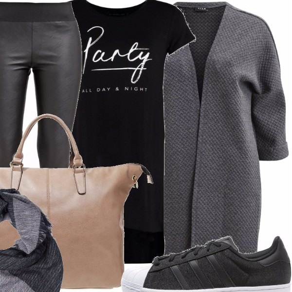 Outfit Leggings pelle