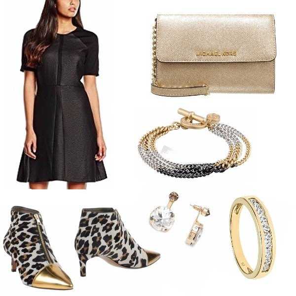 Outfit Dark and gold