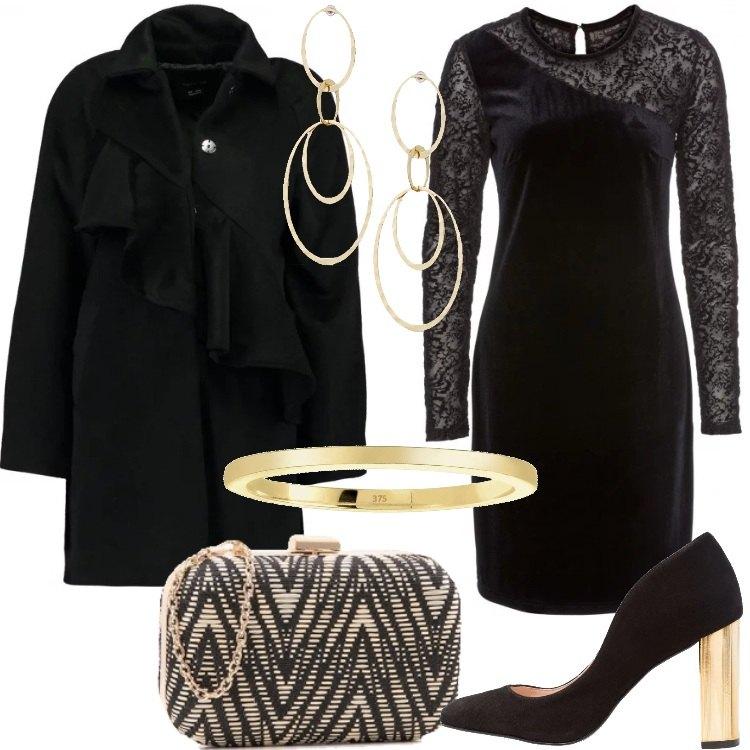 Outfit Nero e oro alla festa