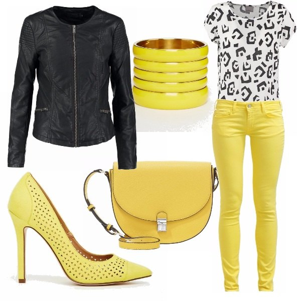 Outfit A tutto giallo