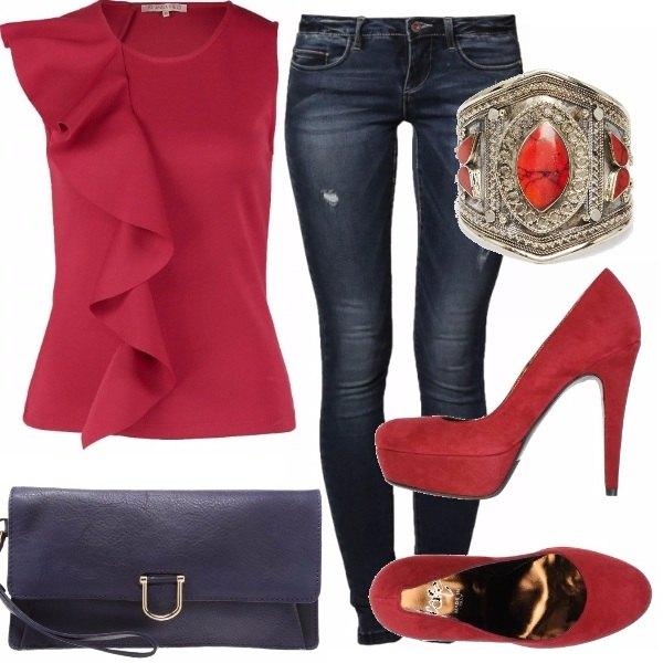 Outfit Dettagli di rosso