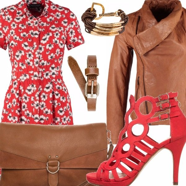 Outfit Brown and flowers