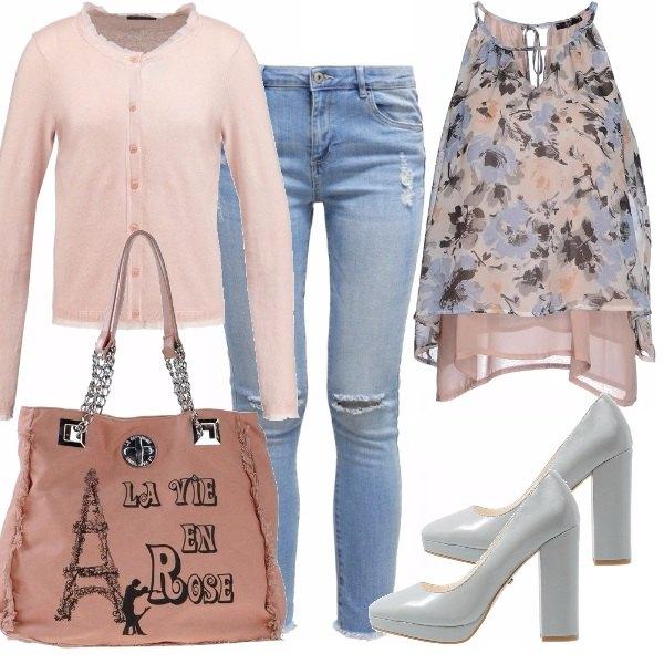 Outfit Serenity e rosa quartz