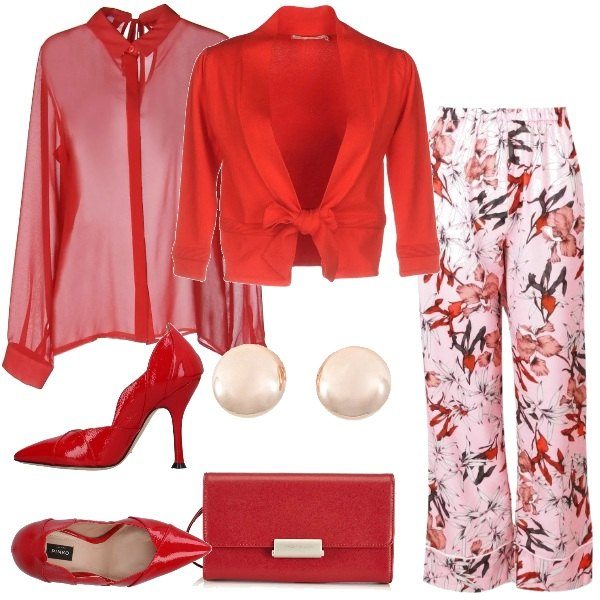 Outfit Cerimonia in rosso