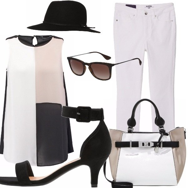 Outfit Curvy Black & white