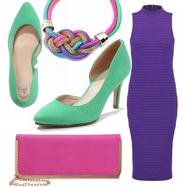 Outfit Color block mixed