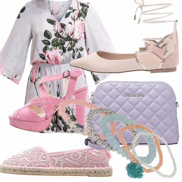 Outfit Tuta fiori, più 3 opzioni di scarpe!