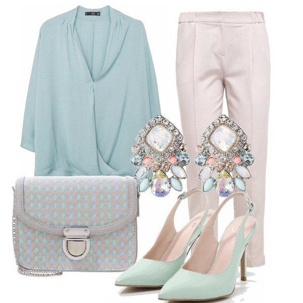 Outfit Cresima in light green