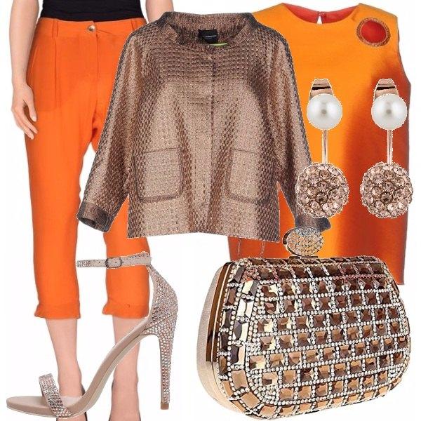 Outfit Cerimonia in arancio e bronzo!