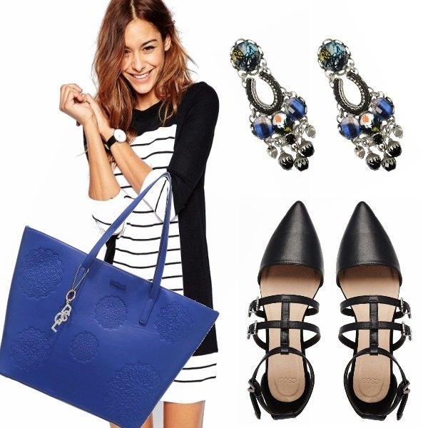 Outfit Bianco e nero con un tocco di colore!