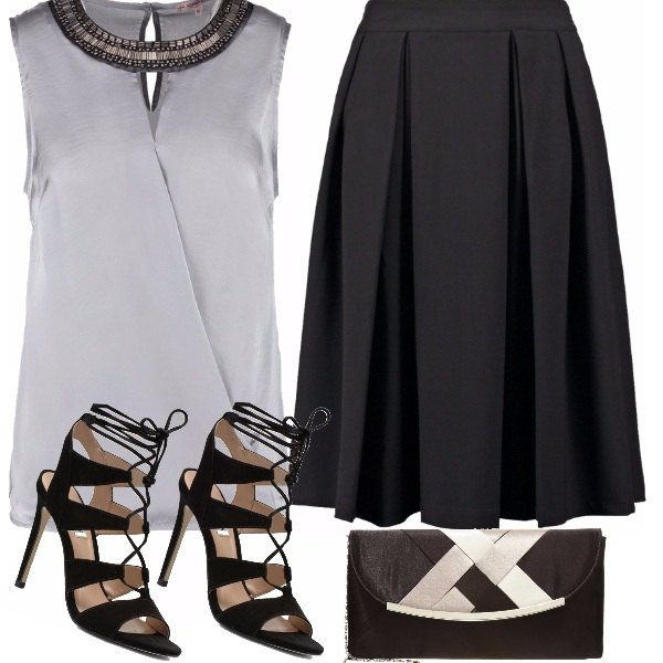 Outfit Black & silver