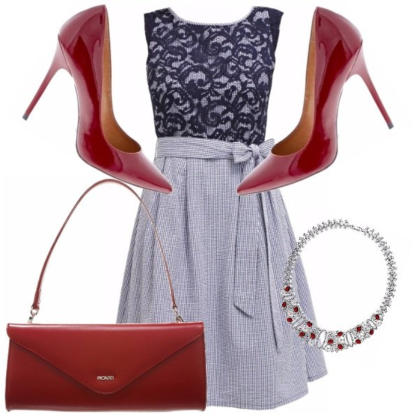 Outfit Decollete rouge