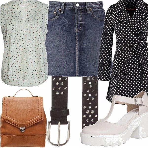 Outfit Borchie e pois