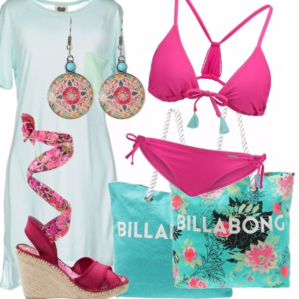Outfit Limpet shell e hot pink