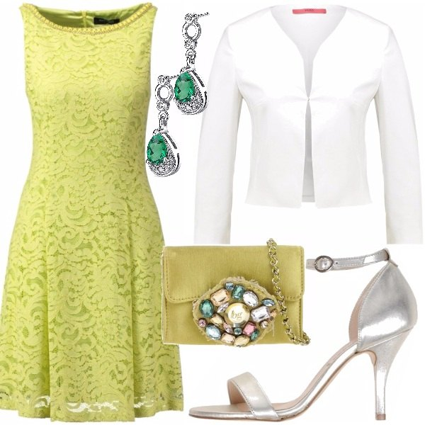 Outfit Pizzo giallo