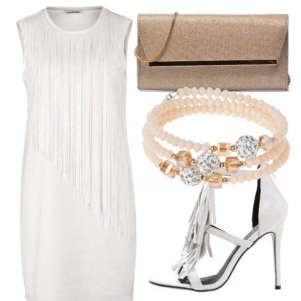 Outfit Bianco e oro, party!