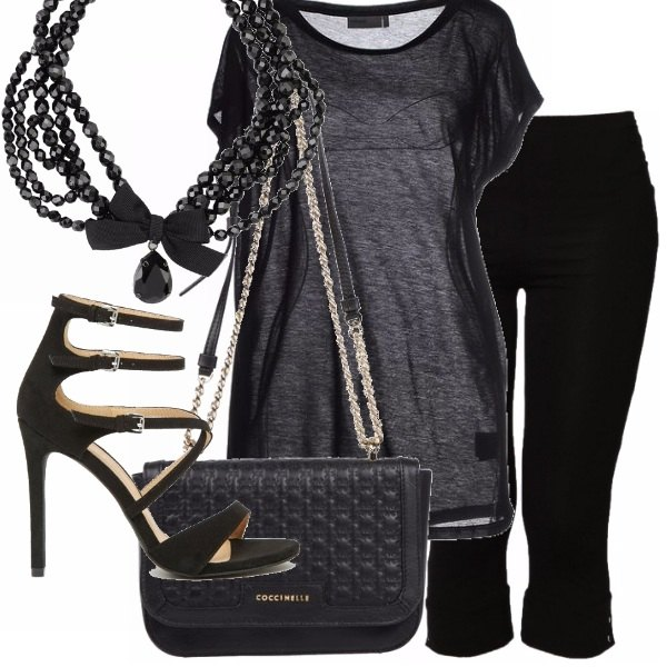 Outfit Total black primavera estate