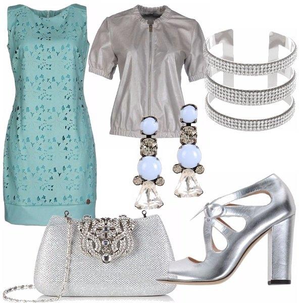 Outfit Celeste e silver