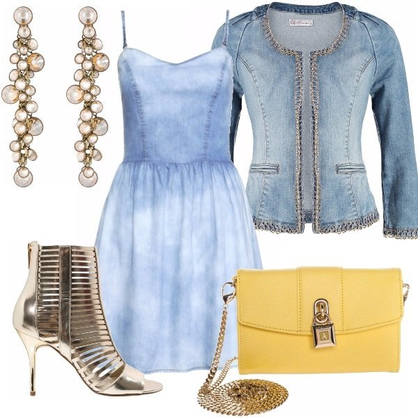 Outfit Gold Denim