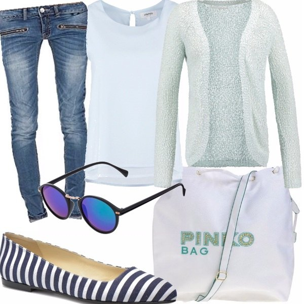 Outfit Jeans e tshirt bianca