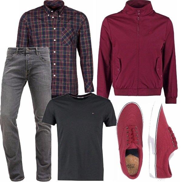 Outfit T-shirt e camicia