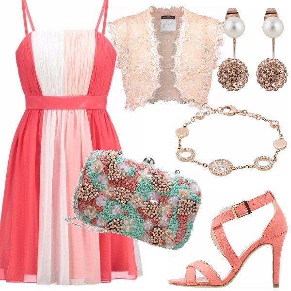 Outfit Matrimonio in peach echo