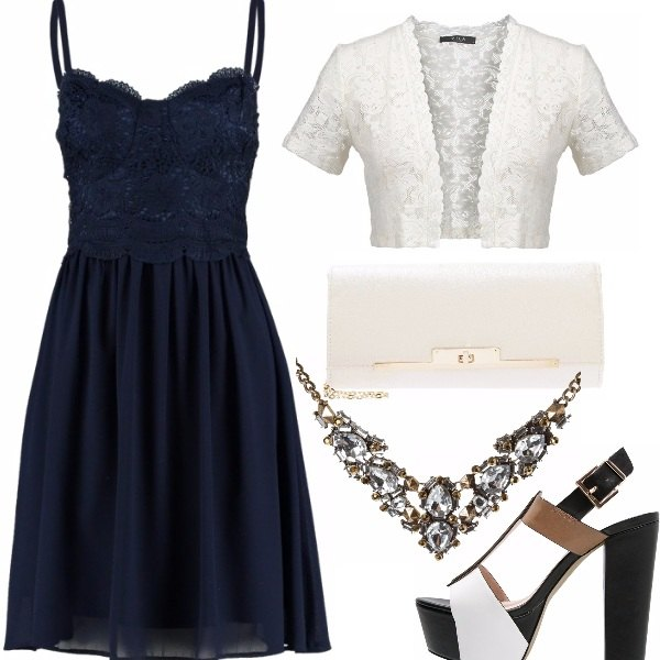 Outfit Matrimonio in blu