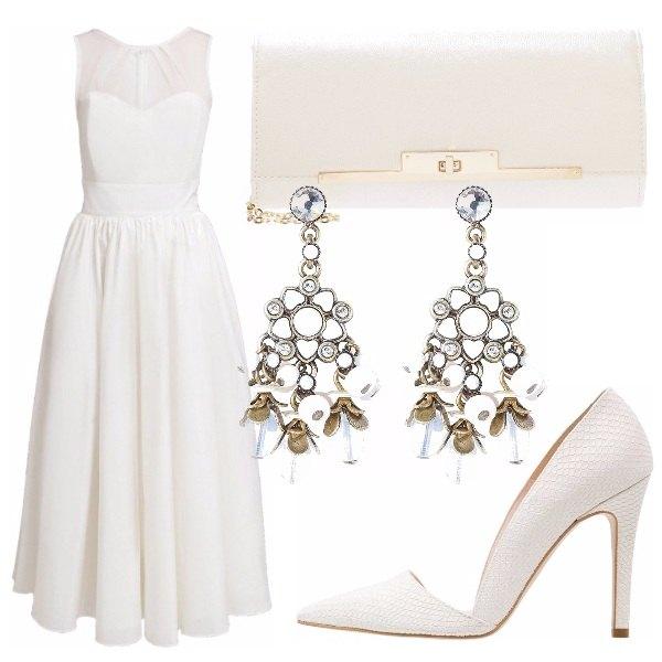 Outfit Cerimonia Total White