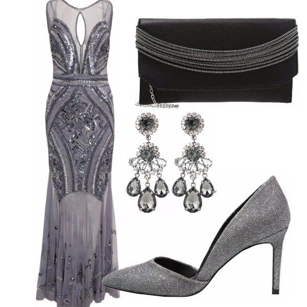 Outfit Grigio scintillante