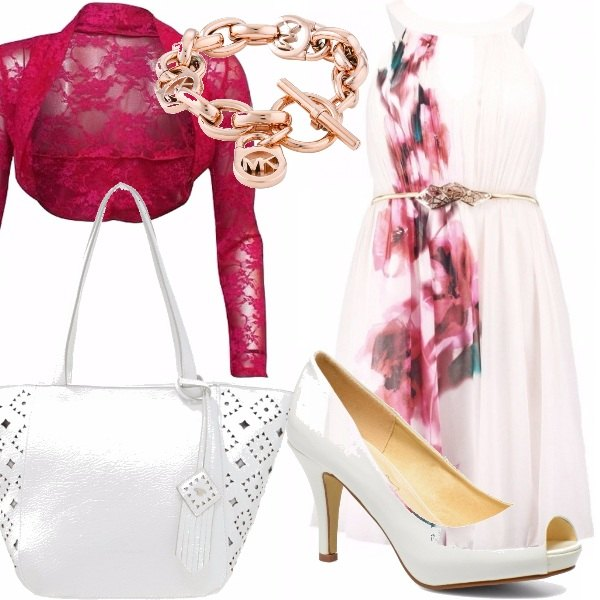 Outfit Curvy in bianco e fucsia!