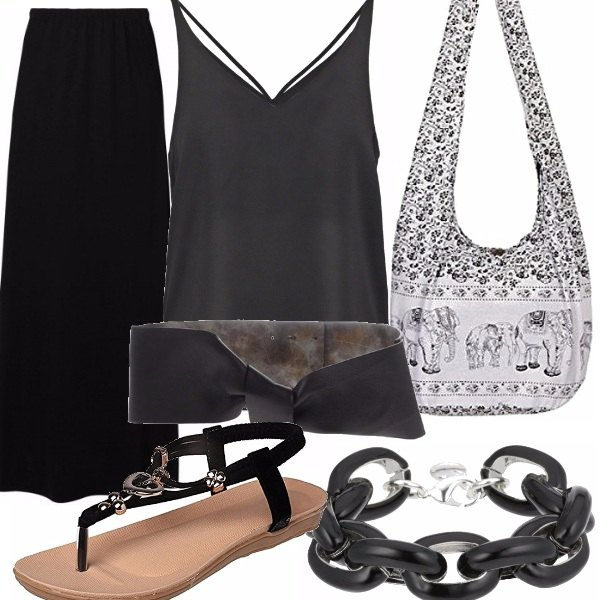 Outfit Etnica in nero