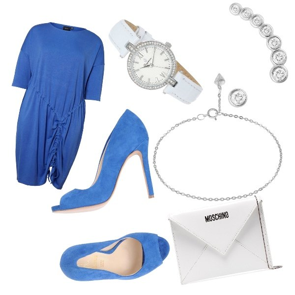 Nel blu dipinto di blu: outfit donna Bon Ton per serata