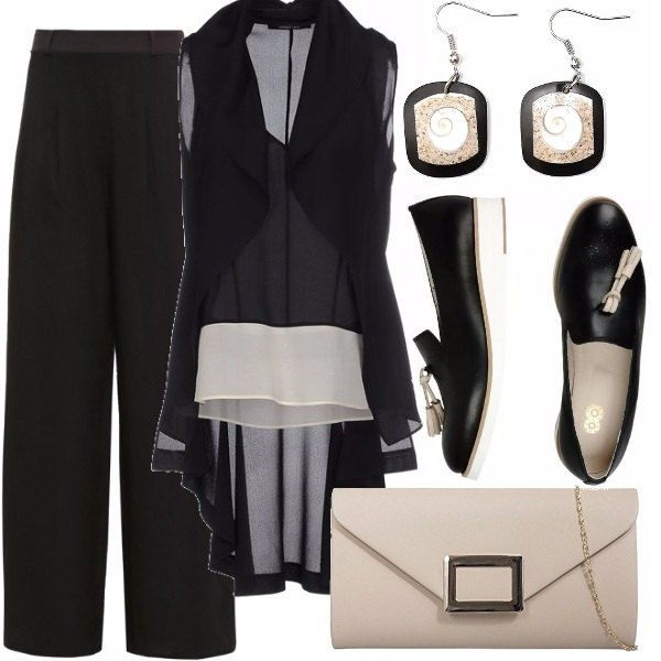 Outfit Glamour in mocassino