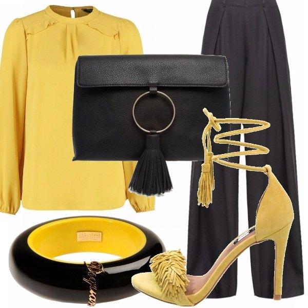 Outfit Raffinata in giallo e nero