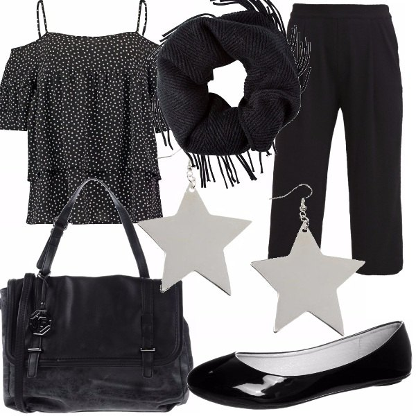 Outfit A stelle e a pois